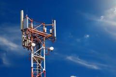 Operatore di rete della stazione base 5G 4G, tecnologie del cellulare 3G fotografie stock libere da diritti