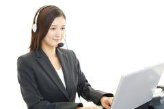 Operatore di servizi di assistenza al cliente Fotografia Stock Libera da Diritti