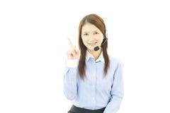 Operatore di servizi di assistenza al cliente fotografie stock libere da diritti