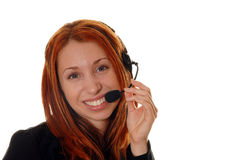 Operatore di servizio di assistenza al cliente Immagini Stock