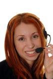 Operatore di servizio di assistenza al cliente Fotografie Stock
