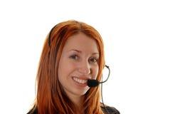 Operatore di servizio di assistenza al cliente Immagini Stock Libere da Diritti