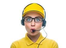 Operatore di servizio di chiamata Immagini Stock