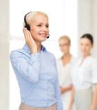 operatore femminile amichevole dell'help-line Immagine Stock Libera da Diritti