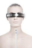 Operatore in linea di cyber futuristico Fotografie Stock