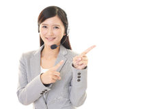 Operatore sorridente della call center Immagine Stock