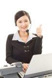 Operatore sorridente della call center Immagini Stock