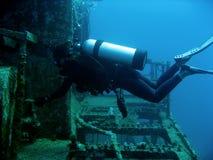 Operatore subacqueo del naufragio Fotografia Stock