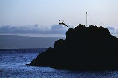 Operatore subacqueo della roccia Fotografia Stock Libera da Diritti