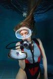 Operatore subacqueo di perla fotografie stock libere da diritti