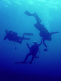 Operatore subacqueo di salvataggio Fotografia Stock