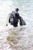 Operatore subacqueo di salvataggio in neoprene Fotografia Stock Libera da Diritti