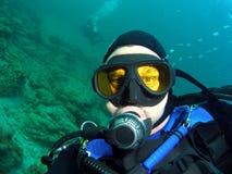 Operatore subacqueo di scuba fotografia stock libera da diritti