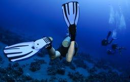 Operatore subacqueo di scuba fotografia stock