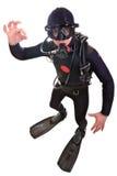 Operatore subacqueo di scuba Fotografie Stock