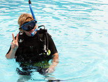 Operatore subacqueo di scuba Immagine Stock Libera da Diritti