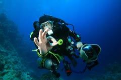 Operatore subacqueo di scuba tecnico immagine stock