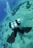 Operatore subacqueo di tecnologia fotografia stock libera da diritti