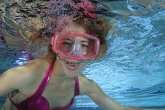 Operatore subacqueo femminile Fotografie Stock Libere da Diritti