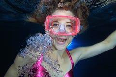 Operatore subacqueo femminile immagini stock