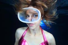 Operatore subacqueo femminile Fotografie Stock