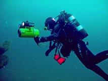 Operatore subacqueo, immersione in profondità Fotografia Stock Libera da Diritti