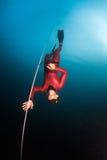 Operatore subacqueo libero fotografie stock libere da diritti