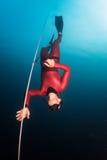 Operatore subacqueo libero immagini stock
