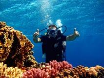 Operatore subacqueo nel mare immagine stock libera da diritti