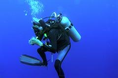 Operatore subacqueo profondo Fotografia Stock