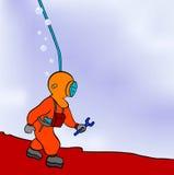 Operatore subacqueo - riparatore Immagini Stock Libere da Diritti