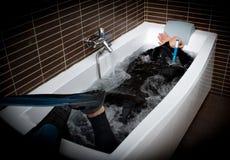 Operatore subacqueo in vasca da bagno Fotografie Stock
