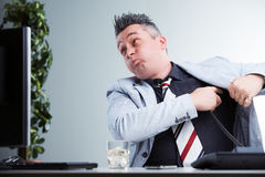 Operatore trascurato del telefono disconsiderando i clienti Immagine Stock Libera da Diritti