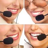 Operatori della call center Fotografie Stock