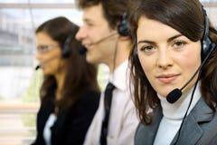 Operatori di servizio di assistenza al cliente Fotografia Stock Libera da Diritti