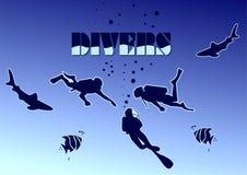 Operatori subacquei Immagini Stock