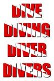 Operatori subacquei dell'operatore subacqueo di immersione subacquea di tuffo Immagini Stock Libere da Diritti