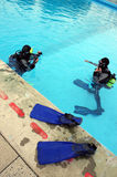 Operatori subacquei di scuba immagine stock libera da diritti
