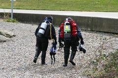 Operatori subacquei di scuba v1 Fotografia Stock