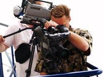 Operatori sul lavoro Fotografie Stock Libere da Diritti
