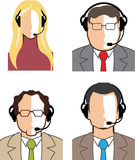 Operators with headsets Vector Stock Photos