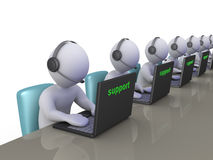 Operators at support call center Stock Photos