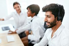 Operators Working On Hotline In Call-Center Stock Photography