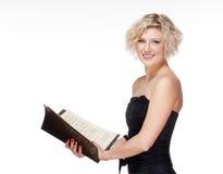 Operazanger Singing stock fotografie