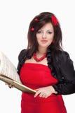 Operazanger Singing in haar Stadiumkleding royalty-vrije stock fotografie