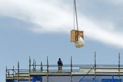 Operazione di lavoro della gru di costruzione Aggiornamento 179 Gosford Gennaio 2019 immagini stock libere da diritti