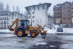 Operazione di rimozione di neve