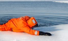 Operazione di salvataggio marina Fotografie Stock Libere da Diritti