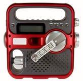 Opere la radio de la emergencia manualmente Fotografía de archivo libre de regalías