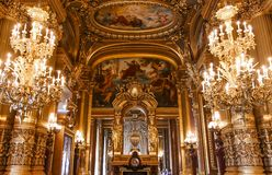 Operende Paris, Palais Garnier frankreich Lizenzfreies Stockbild